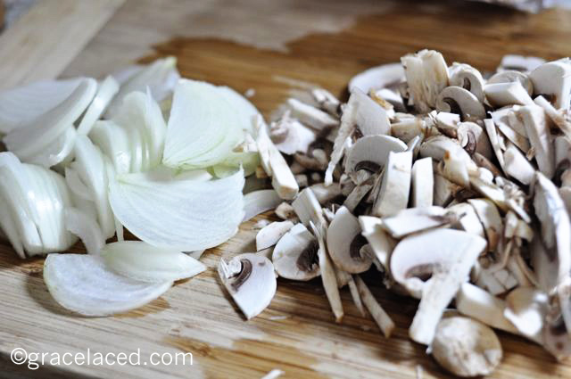White Wine and Mushroom Soup | gracelaced.com