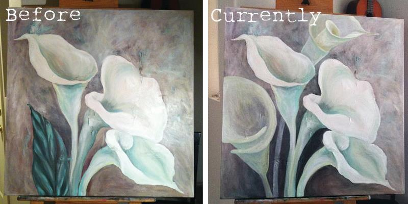 Calla Lily Painting | gracelaced.com
