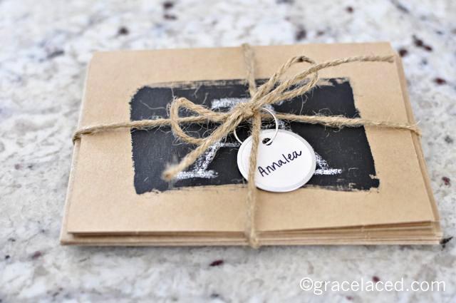 DIY Chalkboard Notecards | gracelaced.com