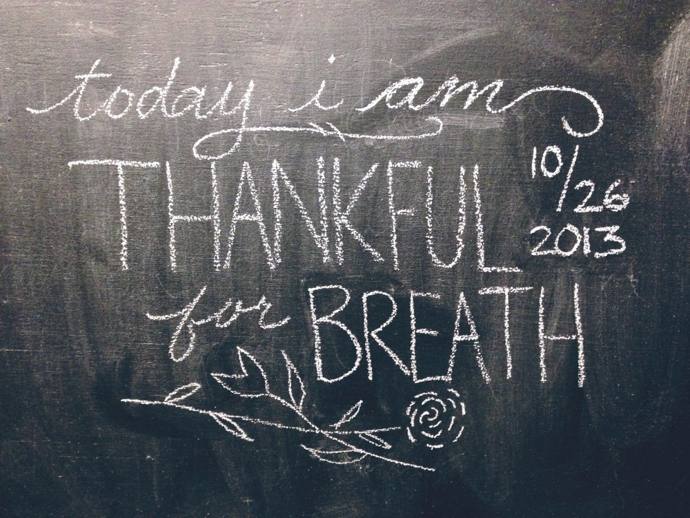 Thankful for breath | gracelaced.com
