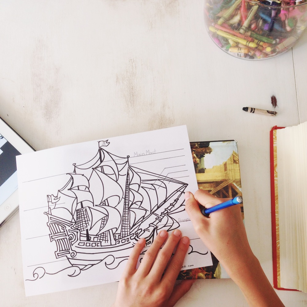 The Anatomy Of A Pirate Ship Coloring Sheet {Free Printable ...