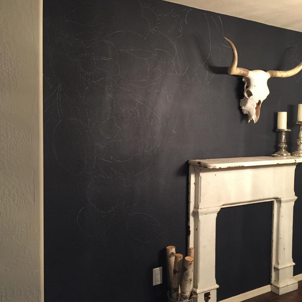 faux wallpaper gold paint marker mural gracelaced